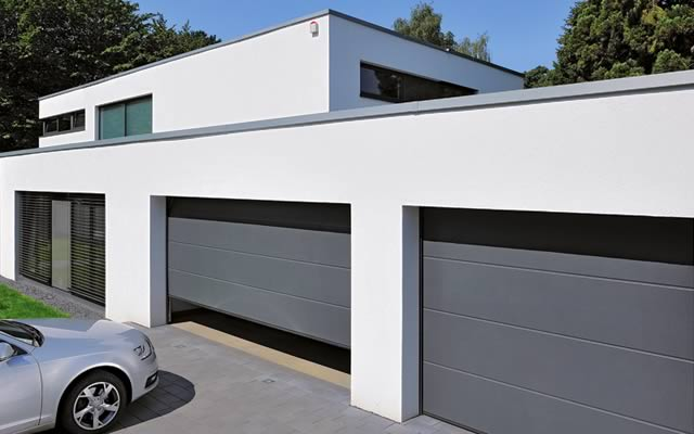 Dimension porte garage sectionnelle double - Porte garage double ...